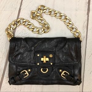 Juicy Couture Black Leather Shoulder Bag